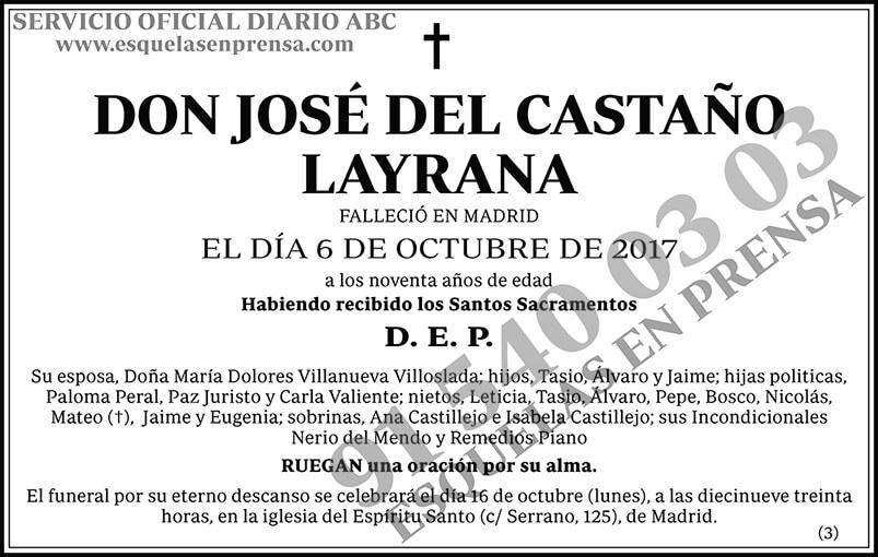 José del Castaño Layrana